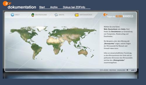 Startseite des Simulators